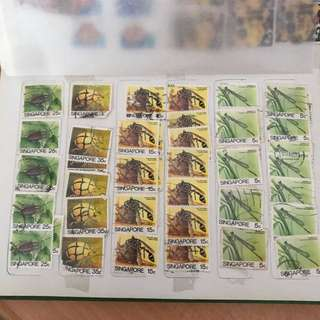 Singapore Stamps - Insect Series (10 designs)