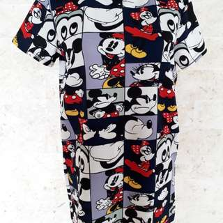 Mickey minnie mouse print blouse
