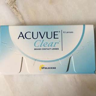 Acuvue clear contact lens (-3.25)