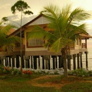 Kuala Selangor Kampung view Chalet Dorani Bayu Resort #hotel #lodge #inn #stay