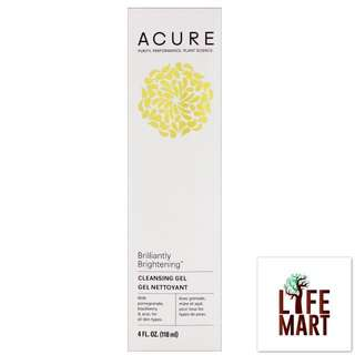 *FREE MAIL* Acure Organics, Brilliantly Brightening, Cleansing Gel (118ml)