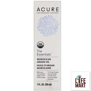 *FREE MAIL* Acure Organics, Moroccan Argan Oil, The Essentials (30ml)