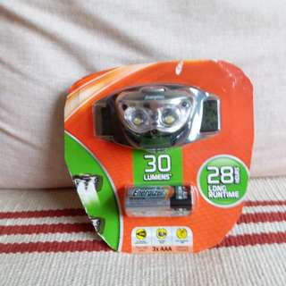 Energizer頭燈連電 (全新,未開封)