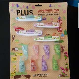 Brand New Mr Plus Colourful Correction Tapes