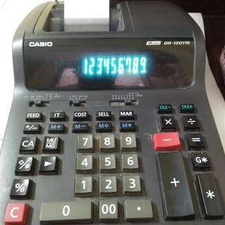 Casio calculator DR-120TM