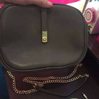 sling bag with gold chain