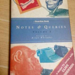 REPRICED!! Notes & Queries by Brian Whitaker