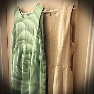 名牌孕婦長洋裝(到脚踝),兩件 ,L號,650含運。