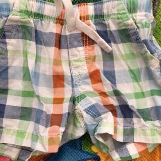 Boys' shorts (4 to 6 months)
