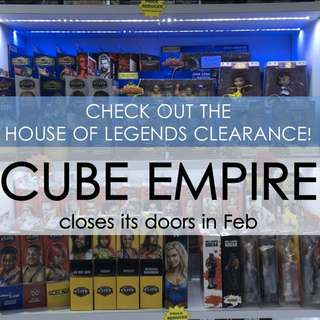 CLEARANCE! Last Chance to Grab Our Selection at Cube Empire!