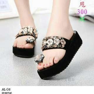 Sandal Wedges Wanita AL03
