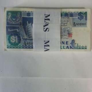 $1 Singapore Ship Series 100pcs running numbers