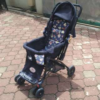 Baby Stroller Sweet Cherry (Dark Blue) * K86 B