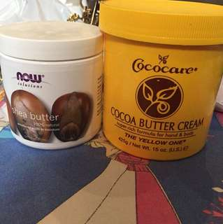 shea butter and cocoa butter cream