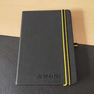 Classic black hard cover notebook