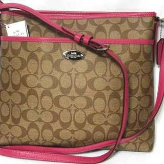 Coach Signature File Bag - Authentic with tag price