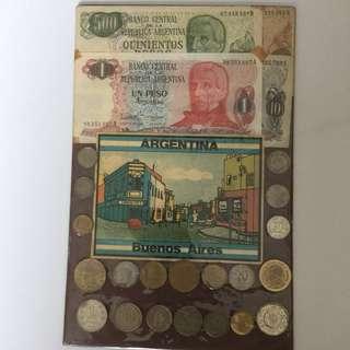 Argentina coin & notes sovenir set sale 30%
