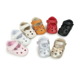 Newborn Soft PU Leather Baby Girl First Walker Shoes