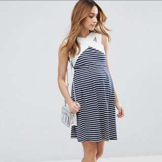 Bnwt Asos maternity striped dress