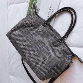 Plaid Travel Bag