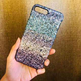 Iphone 8 Plus Gradient Glitter Powder Case