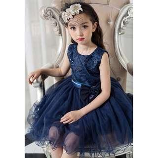 Pretty Royal Blue Summer Flower Girl Dress