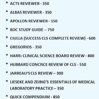MED TECH BOARD EXAM REVIEWER