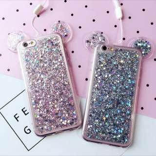 Cute glitter case ✨