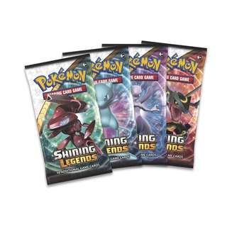 Pokemon Authentic Shining Legends Booster Packs