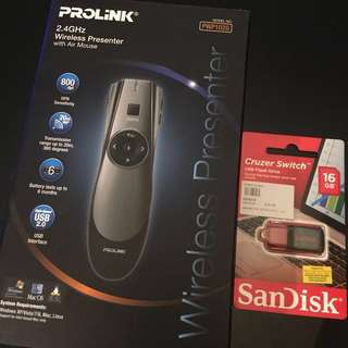 Brand New Wireless Presenter and Thumb drive