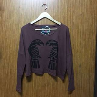 What A Girl Wants Long Sleeve Cropped Top