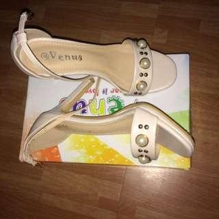 Open-toe heels (size 8)