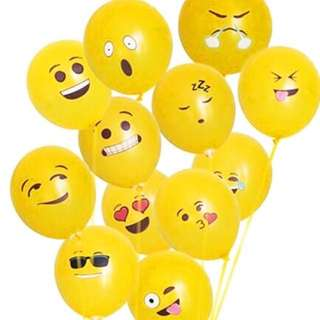 10pcs EMOJI Balloons #emojiparty Balloons only without hellium