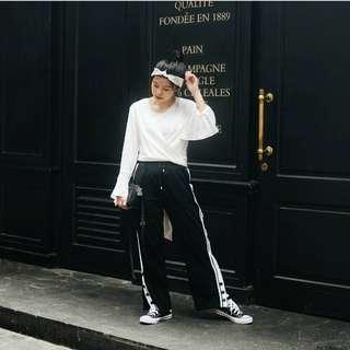 GRINITTY black white pants