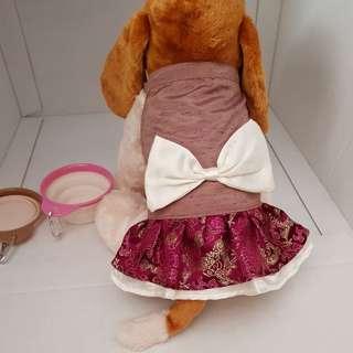 💥Pink mini skirt for pet