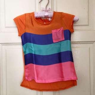 NEXT silky stripe Tshirt age 5
