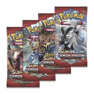 Pokemon Crimson Invasion Authentic Booster Packs