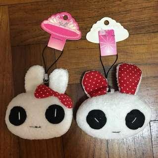 Couple bunny keychain