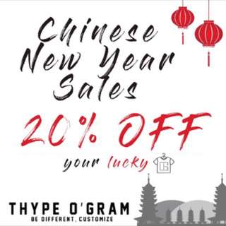 Chinese New Year Customised Tee! 20% off