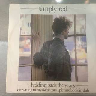 "Simply Red ‎– Holding Back The Years, 12"" Single Vinyl,  WEA ‎– YZ 70T, 1986, UK"