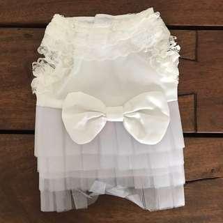 White Dog Dress