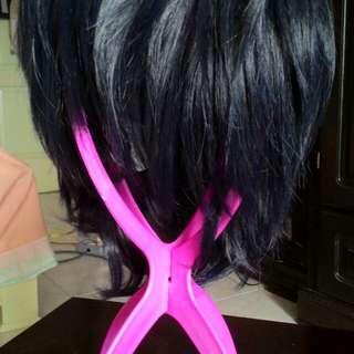 Blue-Black Wig