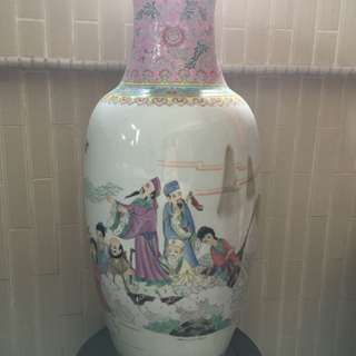 Eight Immortals Chinese Porcelain Vase
