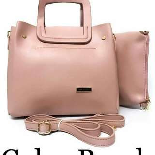 NEW : CHARLES & KEITH  HandBag & SlingBag  With Pouch  SIZE : 13 inch