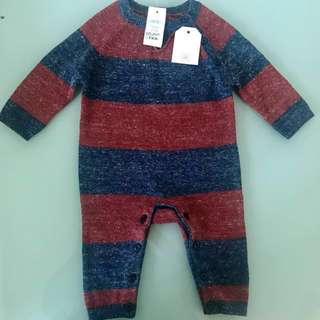 New Baby Gap Match Snap One-Piece Babysuit for 3-6mos