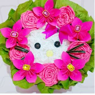 Hello Kitty Paper Flower Bouquet
