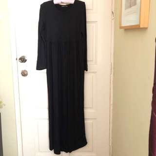 Motherclub long black maternity dress size S/M