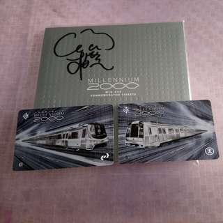 地鐵千禧紀念票 連VCD( 張柏芝簽名)