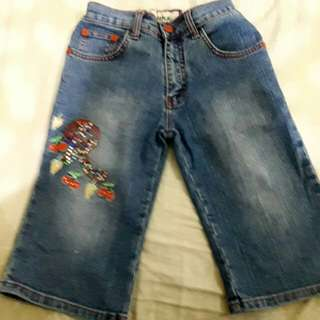 Jeans anak cwe 4-7 thn