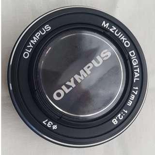 Olympus m. Zuiko 17mm f2.8 lens